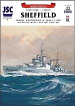 Britse kruiser Sheffield 1:400