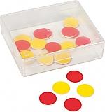 Rekenfiches 2-zijdig rood/geel