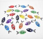 Regenboog gel cijfers vissen