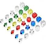 Gekleurde kristallen schatten