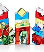 Gekleurde kristallen blokken pk 25