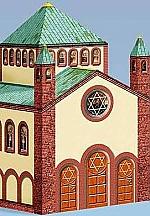 Grote kleurrijke synagoge