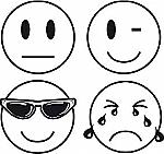 Beloningsstempels serie Smile