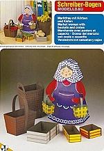 Marktvrouw met manden