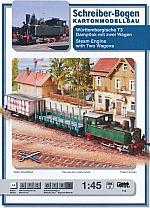 Württembergische T3 Dampflok mit zwei Wagen