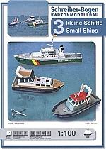 Drie kleine schepen 1:100