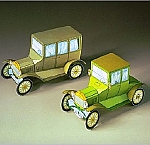 Twee Ford oldtimers model T