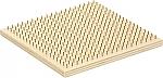 Vierkant houten kralenplankje zonder kistje