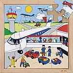Verkeerspuzzel luchthaven Educo