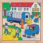 Actie puzzels afval Educo