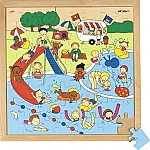 Recreatiepuzzels zwembad Educo