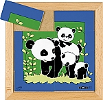 Dierenpuzzels 'moeder en kind' | Panda