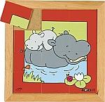 Dierenpuzzels 'Moeder en kind' | Nijlpaard