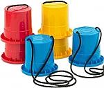 Loopklossen 3 delige set - blauw - rood - geel