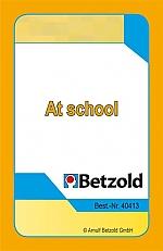 At school - kaartenset voor Magische hoed