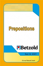 Prepositions - kaarten voor Magische hoed