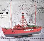 Lichtschip Texel nr. 10 + set schaal 1:250