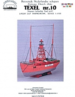 Lichtschip Texel nr. 10 sch. 1:150 framework