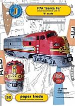 Diesel locomotive F7A Santa Fe