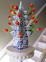 Bloemen-pyramide - Piet Design