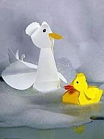 Kuifbadeend - Piet design