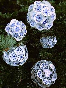 Delfts blauwe kerstballen - Piet Design