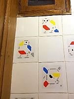 Bart van der Leck tegelstickers - Piet Design