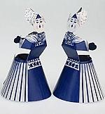 Delfts blauw kussend paar v/v - Piet Design