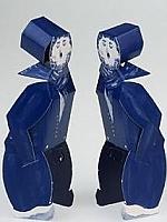 Delfts blauw kussend paar m/m - Piet Design