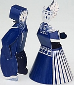 Delfts blauw kussend paar m/v - Piet Design