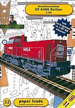 Diesellok DE 6400 Railion 1:50