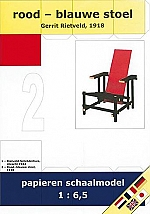 Rood - blauwe stoel Gerrit Rietveld