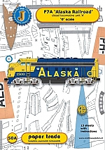 Diesel locomotive F7A Alaska Railroad 1:48