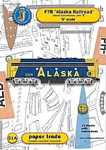 Diesel locomotive F7B Alaska Railroad 1:48