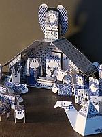 Delfts blauwe Kerststal - Piet design