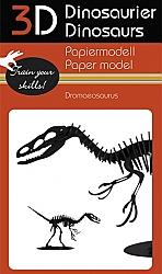Dromaeosaurus - 3D karton model