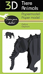 Olifant - 3D karton modelbouw