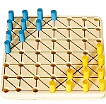 Chinese checker mini-spel van hout