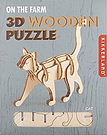 Kat - Houten 3D Puzzel Kikkerland