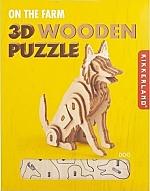 Hond - Houten 3D Puzzel Kikkerland