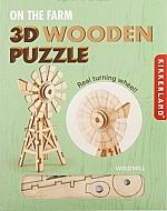 Windmolen Houten 3D Puzzel Kikkerland