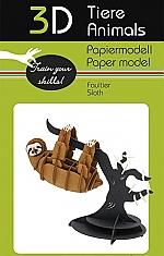 Luiaard - 3D karton model
