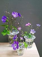 Delftsblauwe bloemenroosters