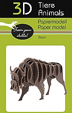 Bison - 3D karton model