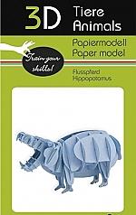 Nijlpaard - 3D karton model