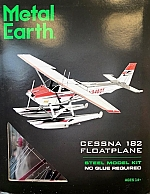 Cessna 182 Floatplane Metal Earth