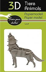 Wolf - 3D karton model