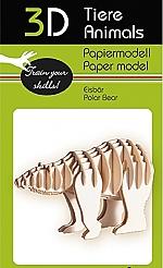 IJsbeer - 3D karton model