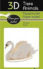 Zwaan - 3D karton model