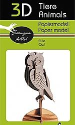 Uil - 3D karton model